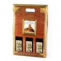 Caja de Cartón color Rojo con 3 botellas - Desde 50 cl. hasta 1l.