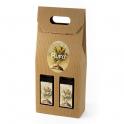 Caja de Cartón color Marrón con 2 botellas - Desde 50 cl. hasta 1l.