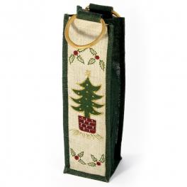 """Bolsa de yute """"Navidad"""" con 1 botella - Desde 50 cl. hasta 1l."""