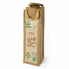 "Bolsa de yute ""Natural"" con 1 botella - Desde 50 cl. hasta 1l."